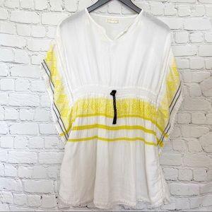 Zara Girls white and yellow swim coverup